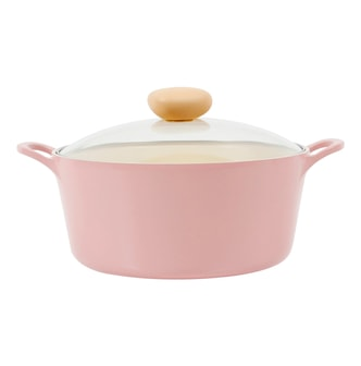 NEOFLAM Retro Nonstick Cast Aluminum Ceramic Coating Stock Pot Vent Release Glass Lid Included 10in #Pink 5L NEOFLAM Retro Nonstick Cast Aluminum Ceramic Coating Stock Pot Vent Release Glass Lid Included 10in #Pink 5L