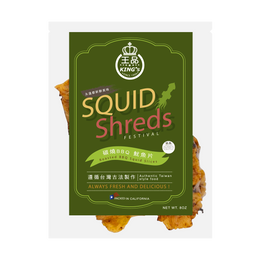 KING'S Roasted BBQ Squid Slices 227g