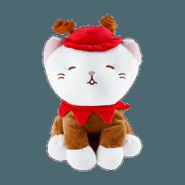 MINISO Christmas Series Kitten Plush Toy(Reindeer)