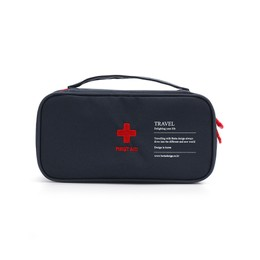 TIMESWOOD Travel Portable Hand Medical Kits First Aid Kit Medicine Organizing Debris Classified Storgage Bag Navy 1 pc