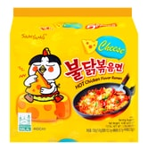 SAMYANG Stir-Fried Noodle Hot Spicy Chicken Cheese Flavor Ramen 5 Bags
