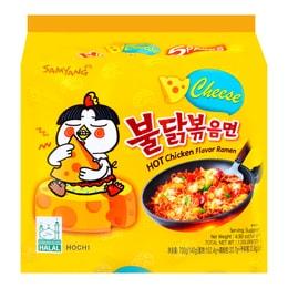 韩国SAMYANG三养 超辣鸡肉味拌面 乳酪味 5包入 700g