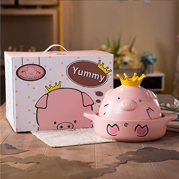 Product Detail - HEY JUZU Ceramic casserole net red pig P800-1-1000ML - image 0