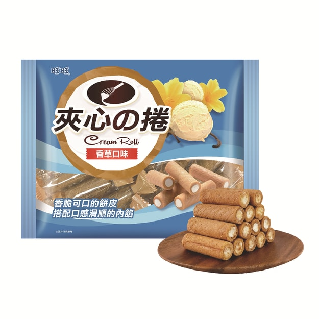 Product Detail - Taiwan WANT WANT Vanilla Cream Wafer Roll Sticks 250g - image 0
