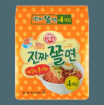 韩国OTTOGI不倒翁 蛋黄鱼板Q拌面 4包入 600g