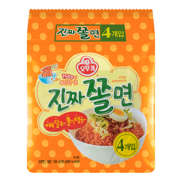 Product Detail - OTTOGI Jinjja jjolmyeon 4packages 600g - image 0