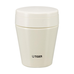 TIGER Stainless Steel Thermal Vacuum Insulated Food Jar Soup Cup Cauliflower White 300ml MCC-C030