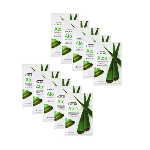 Product Detail - PLAN36.5 Aloe Plant Cell Daily Mask 10pcs - image 0