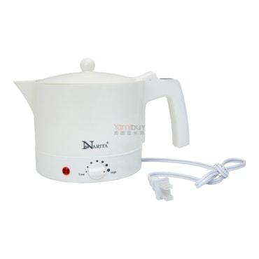美国NARITA 便携式电热水壶(包括蒸汽架) 1.0L 可蒸鸡蛋煮汤和面条 WM-6105 (1年制造商保修)