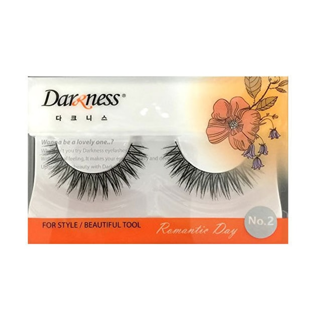 Product Detail - DARKNESS False Eyelashes #NO2 1Pair In 1Box - image 0
