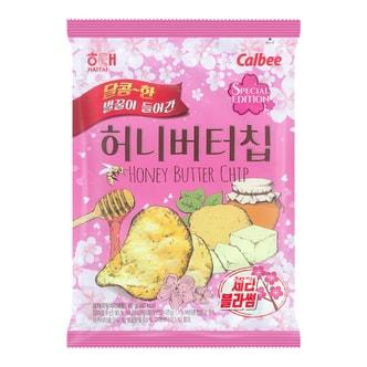 韩国HAITAI海太 蜂蜜黄油薯片 60g 樱花限定版