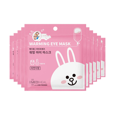 MEDIHEAL X LINE FRIENDS Warming Eye Mask Lavender 10pcs