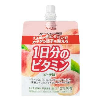日本HOUSE 富含13种维他命 桃子味果冻饮料  180g