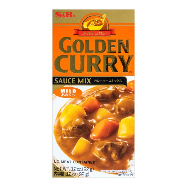 Product Detail - GOLDEN Curry Sauce Mix - Mild 92g - image  0