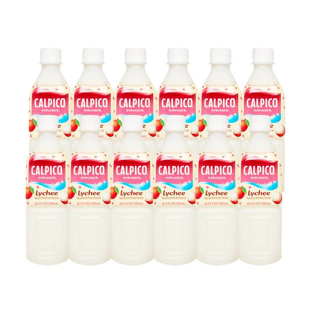 商品详情 - 【超值分享装】日本CALPICO 无碳酸天然乳酸菌饮料 荔枝味 500ml*12瓶装 - image  0