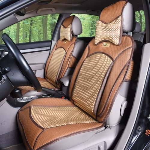 QBEDDING Soothing Drive Cooling Rattan Car Seat Cover Front