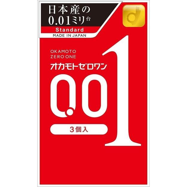 商品详情 - 【日本直邮】 OKAMOTO冈本001超薄避孕套0.01极薄安全套 3个入 - image  0