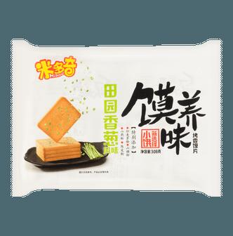 米多奇 馍养味烤香馍片 田园香葱味 308g