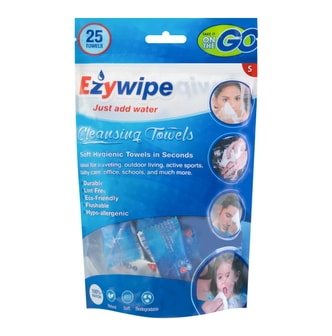 EZYWIPE Individually Wrapped Cleansing Towel Size S 25pcs