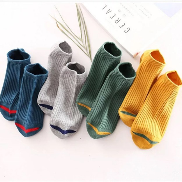 Product Detail - 2021LIFE Japanese plain cotton socks - ten colors/ ten pairs included/ - image 0