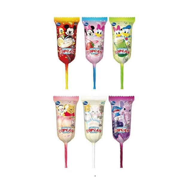 商品详情 - 【日本直邮】Glico固力果 米奇头迪士尼棒棒糖果汁味 1支 (口味图案随机发货) - image  0