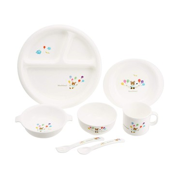 OSK Children Tableware Set for Toddlers and Kids 7pcs