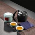 【中国直邮】蔡同昌 旅行茶具套装快客杯便携日式简约车载陶瓷礼品 青