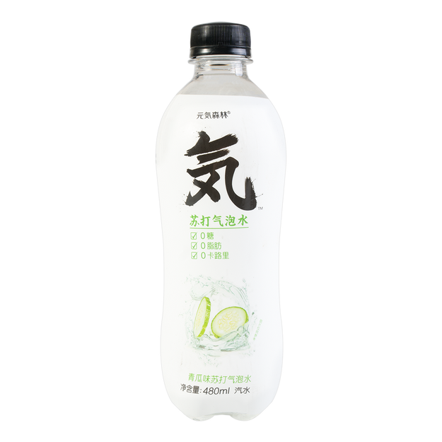 Product Detail - [Buy 5 Get 1 Free] Genki Forest Cucumber Soda Water 500ml - image 0