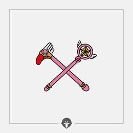 @BECOME Original Tattoo Stickers Sakura Three Piece
