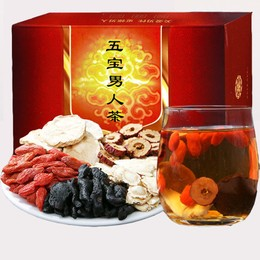 中国直邮 交悦 黄精人参五宝茶 红枣固本 枸杞 山药 组合 男人茶 150g一盒