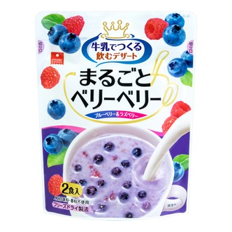 日本ASUZAC FOODS 冻干蓝莓覆盆子 22g
