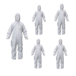 SAFE FIT Cov63 Heavy Duty Coverall Size M 5pcs