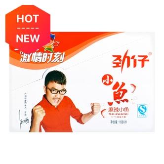 华文食品 劲仔小鱼 麻辣味 12g×20包入 湖南特产 汪涵代言