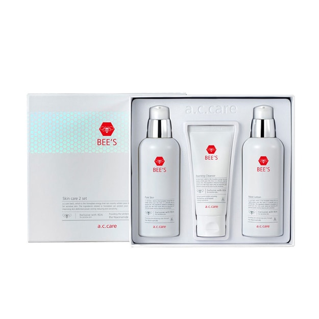 Product Detail - A.C. CARE BEE\'S 3pcs Set Toner 130ml + Lotion 130ml + Cleansing Foam 50ml - image 0