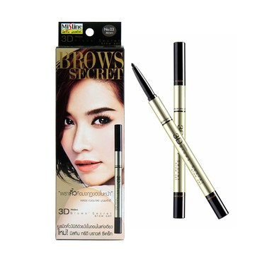 MISTINE 3D Brows Secret Brow Set 03 Black Grey