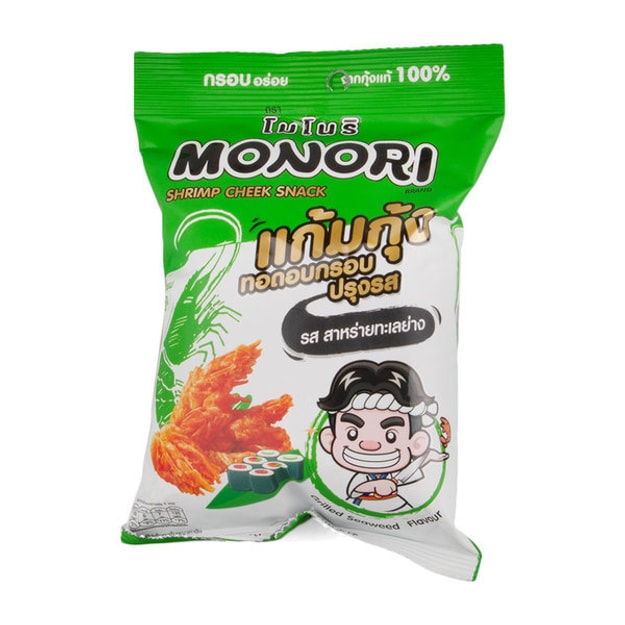 Product Detail - MONORI Fried Shrimp Cheek Grilled Seaweed Flavor 25g - image 0