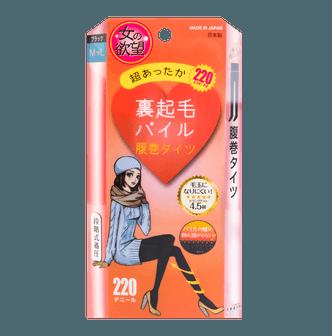 日本TRAIN女の欲望 新款加厚保暖高腰收腹压力连裤袜 220D #黑色 L-LL
