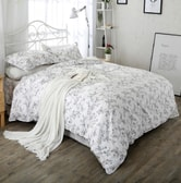 Qbedding Perry Cotton Bedskirt Set Full Size