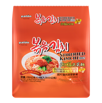 韩国PALDO八道 御膳泡菜面 内附韩国生泡菜包 4包入 600g