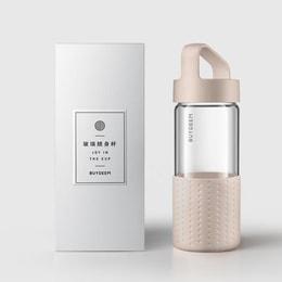 [中国直邮]北鼎BUYDEEM 玻璃随身杯水杯 外带杯 便携 400ml 粉色
