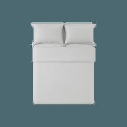 网易严选 【严选首发】A类100支长绒棉奢密磨毛四件套 燕羽灰*1.8m床:适用2.2mx2.4m被芯