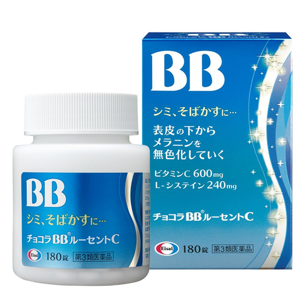Product Detail - CHOCOLA BB Lucent C For Stains Freckles Eizai Japan 180Tablets - image 0