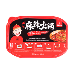 BASHULANREN Instant Spicy Hot Pot with Vegetable 360g+20ml
