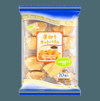 日本MARUKIN丸金 北海道牛乳厚切年轮蛋糕 10个入 270g