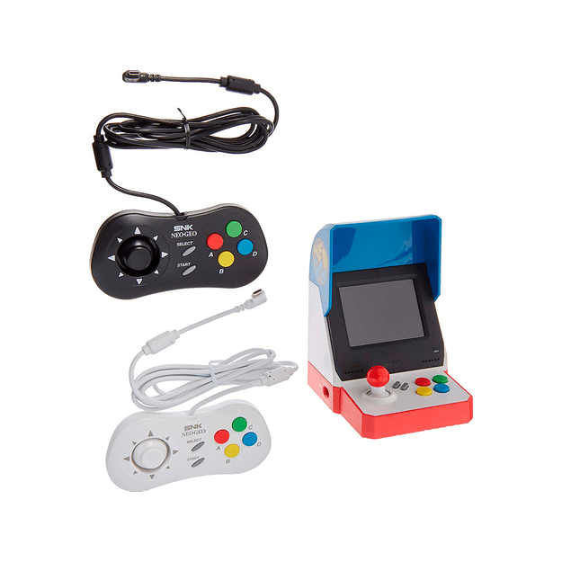 Product Detail - Neogeo Mini Pro Player Pack - Includes 2 Game Pads (1 Black & 1 White) HDMI Cable Power Cable -American Version - image 0