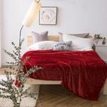 Qbedding  Extra Large Burgundy Red Microplush Blanket