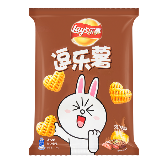 商品详情 - 百事LAY\'S乐事 逗乐薯 烤肉味 70g - image  0