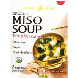 WEWOKIT Organic Miso Soup Spinach Wakame 1.7/oz/ea