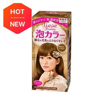 日本KAO花王 LIESE PRETTIA 泡沫染发剂 #亮泽棕色 单组入 COSME大赏第一位