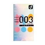 日本OKAMOTO冈本 003 超薄安全避孕套 三色透明 12个装